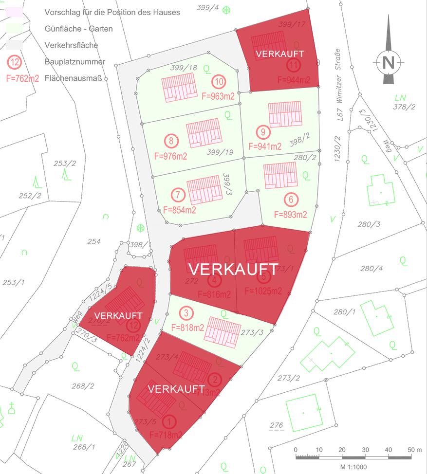 Baugrund-Kraig Grundstück Lageplan